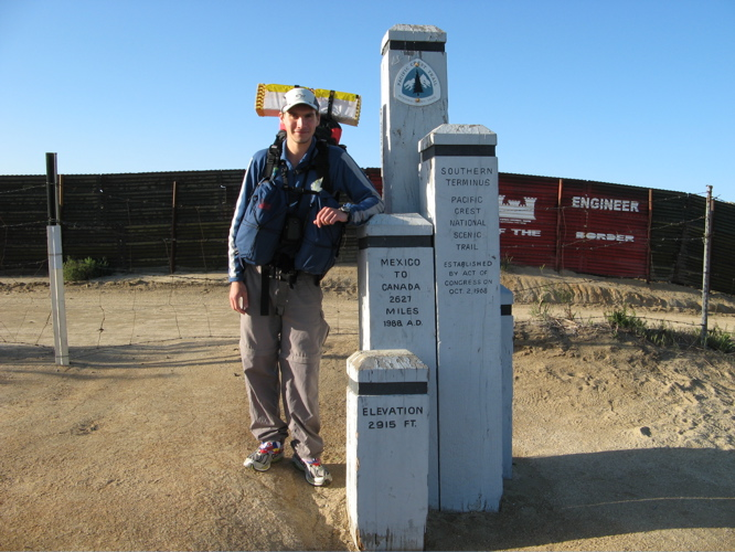 Starting posts at the Mexico-USA border