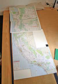 The big maps, before the markings